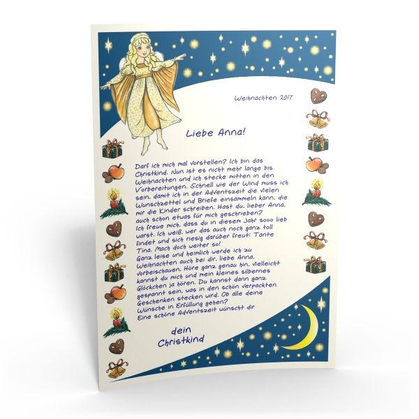 Christkind Bilder Weihnachten.Personalisieter Brief Vom Christkind Für Ihr Kind