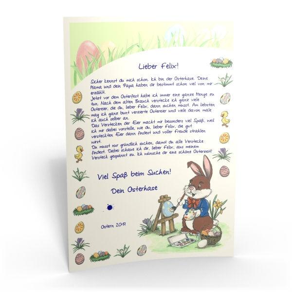 Personalisieter Brief Vom Osterhasen Für Ihr Kind