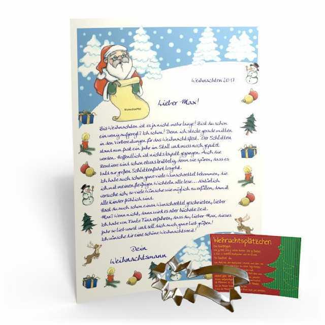 Personalisieter Brief Vom Weihnachtsmann Fur Ihr Kind