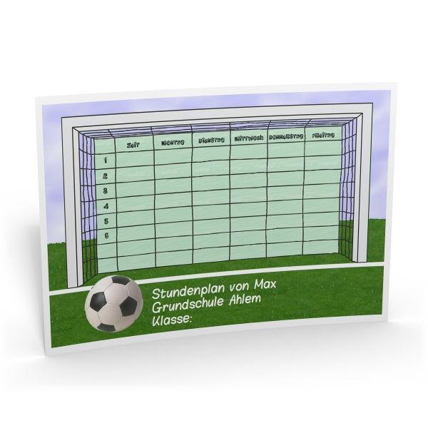 Personalisierter Stundenplan Fussball Geschenk Zur Einschulung